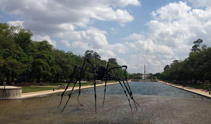 Louise Bourgeois (French-American, 1911-2010), Spider, 1996, Bronze 133 x 263 x 249 inches, from an edition of 6, Private Collection, Courtesy McClain Gallery
